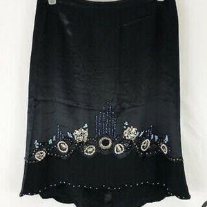 Nanette Lepore Silk Beaded Skirt
